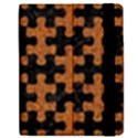 PUZZLE1 BLACK MARBLE & RUSTED METAL Apple iPad 3/4 Flip Case View2