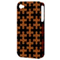 PUZZLE1 BLACK MARBLE & RUSTED METAL Apple iPhone 4/4S Hardshell Case (PC+Silicone) View3