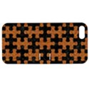 PUZZLE1 BLACK MARBLE & RUSTED METAL Apple iPhone 5 Hardshell Case with Stand View1