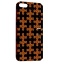 PUZZLE1 BLACK MARBLE & RUSTED METAL Apple iPhone 5 Hardshell Case with Stand View2