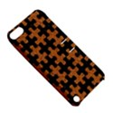 PUZZLE1 BLACK MARBLE & RUSTED METAL Apple iPod Touch 5 Hardshell Case with Stand View5
