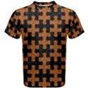 PUZZLE1 BLACK MARBLE & RUSTED METAL Men s Cotton Tee View1