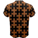 PUZZLE1 BLACK MARBLE & RUSTED METAL Men s Cotton Tee View2