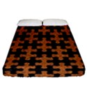 PUZZLE1 BLACK MARBLE & RUSTED METAL Fitted Sheet (California King Size) View1