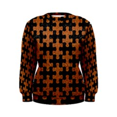 Puzzle1 Black Marble & Rusted Metal Women s Sweatshirt