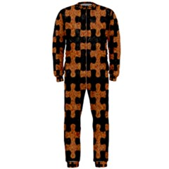 Puzzle1 Black Marble & Rusted Metal Onepiece Jumpsuit (men)