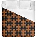 PUZZLE1 BLACK MARBLE & RUSTED METAL Duvet Cover (King Size) View1