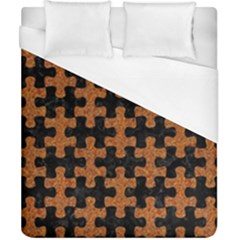 Puzzle1 Black Marble & Rusted Metal Duvet Cover (california King Size)