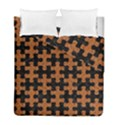 PUZZLE1 BLACK MARBLE & RUSTED METAL Duvet Cover Double Side (Full/ Double Size) View1