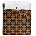 PUZZLE1 BLACK MARBLE & RUSTED METAL Duvet Cover Double Side (Queen Size) View1