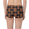 PUZZLE1 BLACK MARBLE & RUSTED METAL Reversible Boyleg Bikini Bottoms View4