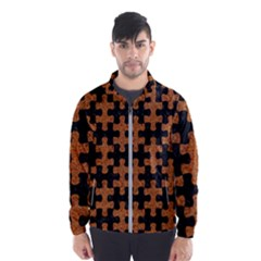 Puzzle1 Black Marble & Rusted Metal Wind Breaker (men)