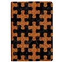 PUZZLE1 BLACK MARBLE & RUSTED METAL Apple iPad Pro 9.7   Flip Case View1