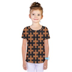 Puzzle1 Black Marble & Rusted Metal Kids  One Piece Tee