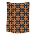 PUZZLE1 BLACK MARBLE & RUSTED METAL Medium Tapestry View1