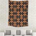 PUZZLE1 BLACK MARBLE & RUSTED METAL Medium Tapestry View2