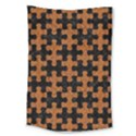 PUZZLE1 BLACK MARBLE & RUSTED METAL Large Tapestry View1