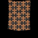 PUZZLE1 BLACK MARBLE & RUSTED METAL Large Tapestry View2