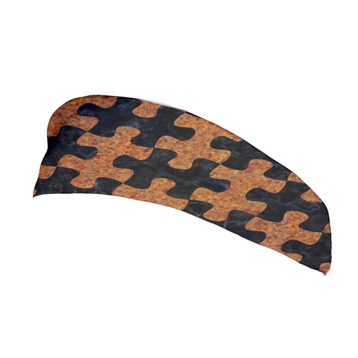 PUZZLE1 BLACK MARBLE & RUSTED METAL Stretchable Headband