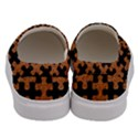 PUZZLE1 BLACK MARBLE & RUSTED METAL Men s Canvas Slip Ons View4