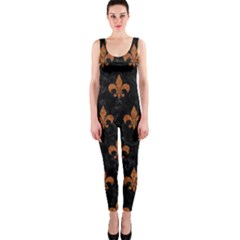 Royal1 Black Marble & Rusted Metal Onepiece Catsuit