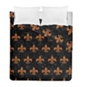 ROYAL1 BLACK MARBLE & RUSTED METAL Duvet Cover Double Side (Full/ Double Size) View1