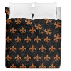 Royal1 Black Marble & Rusted Metal Duvet Cover Double Side (queen Size)