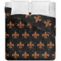 ROYAL1 BLACK MARBLE & RUSTED METAL Duvet Cover Double Side (California King Size) View1