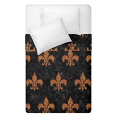 Royal1 Black Marble & Rusted Metal Duvet Cover Double Side (single Size)
