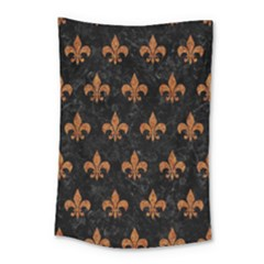 Royal1 Black Marble & Rusted Metal Small Tapestry