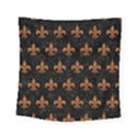 ROYAL1 BLACK MARBLE & RUSTED METAL Square Tapestry (Small) View1