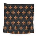 ROYAL1 BLACK MARBLE & RUSTED METAL Square Tapestry (Large) View1