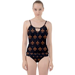 Royal1 Black Marble & Rusted Metal Cut Out Top Tankini Set