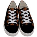 ROYAL1 BLACK MARBLE & RUSTED METAL Women s Low Top Canvas Sneakers View1
