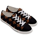 ROYAL1 BLACK MARBLE & RUSTED METAL Women s Low Top Canvas Sneakers View3
