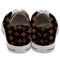 ROYAL1 BLACK MARBLE & RUSTED METAL Women s Low Top Canvas Sneakers View4