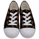 ROYAL1 BLACK MARBLE & RUSTED METAL Kids  Low Top Canvas Sneakers View1