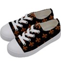 ROYAL1 BLACK MARBLE & RUSTED METAL Kids  Low Top Canvas Sneakers View2