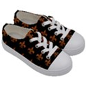 ROYAL1 BLACK MARBLE & RUSTED METAL Kids  Low Top Canvas Sneakers View3