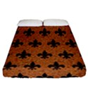 ROYAL1 BLACK MARBLE & RUSTED METAL (R) Fitted Sheet (California King Size) View1