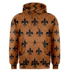 Royal1 Black Marble & Rusted Metal (r) Men s Pullover Hoodie