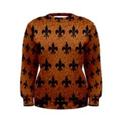 Royal1 Black Marble & Rusted Metal (r) Women s Sweatshirt