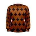 ROYAL1 BLACK MARBLE & RUSTED METAL (R) Women s Sweatshirt View1
