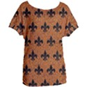 ROYAL1 BLACK MARBLE & RUSTED METAL (R) Women s Oversized Tee View1