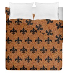 Royal1 Black Marble & Rusted Metal (r) Duvet Cover Double Side (queen Size)