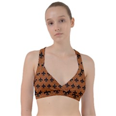Royal1 Black Marble & Rusted Metal (r) Sweetheart Sports Bra
