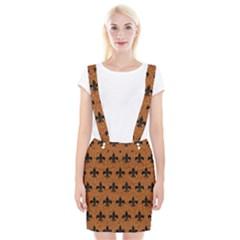 Royal1 Black Marble & Rusted Metal (r) Braces Suspender Skirt