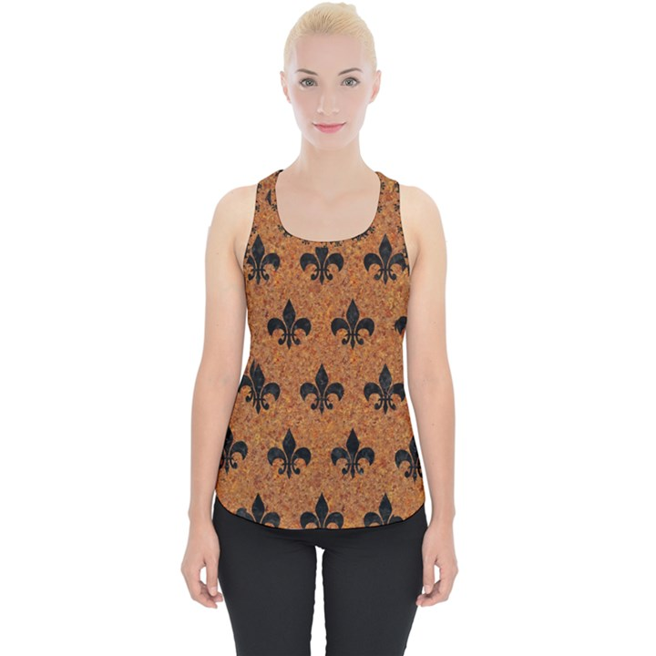 ROYAL1 BLACK MARBLE & RUSTED METAL (R) Piece Up Tank Top