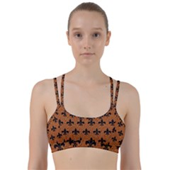 Royal1 Black Marble & Rusted Metal (r) Line Them Up Sports Bra