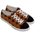 ROYAL1 BLACK MARBLE & RUSTED METAL (R) Women s Low Top Canvas Sneakers View3